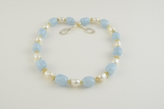 """""""honey-blue"""" Silber, Aquamarine, Opale, Süßwasserperlen (Preis auf Anfrage)"""